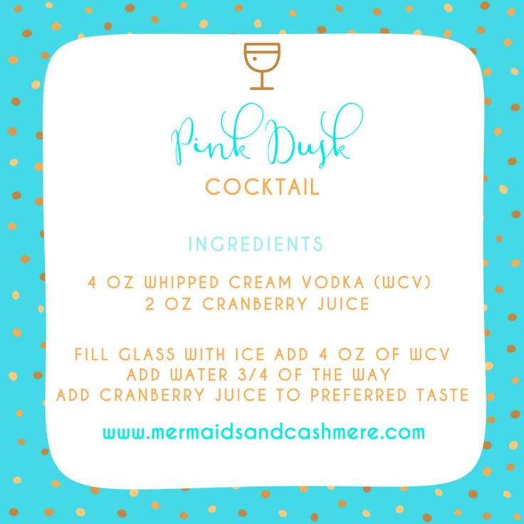 Cocktail Recipe - Pink Dusk ~ Whipped Cream Vodka and Crandberry